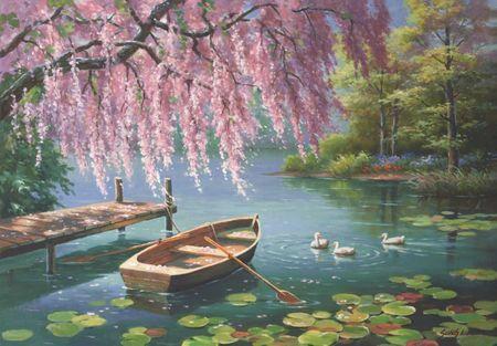 AnaTolian Puzzle Jarní krása vrb 500 dílků