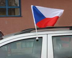 Vlajka ČR na okná auta, set 2ks