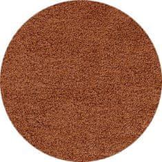 Ayyildiz Kusový koberec Life Shaggy 1500 terra kruh