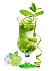 GLASMARK Koktejlový pohár - 420ml, zelený podstavec-G57-0032-0420-5183-20