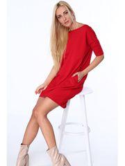 Amando Dámske bavlnené šaty 3380, červené