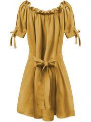 Amando Dámske šaty v španielskom štýle 279ART, horčicové