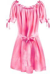 Amando Dámske šaty v španielskom štýle 279ART, neónovo ružové