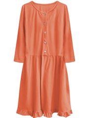 Amando Dámske oversized šaty 305ART, oranžové