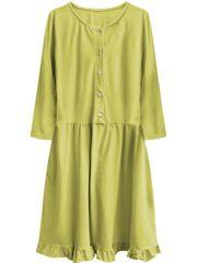 Amando Dámske oversized šaty 305ART, žlté
