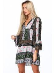 Amando Dámske kvetinové šaty 3807, zelené