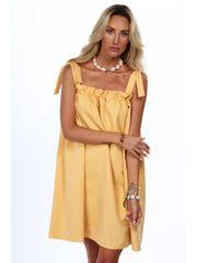 Amando Dámske voľné letné šaty 0295, žlté