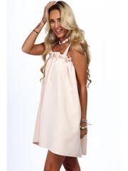Amando Dámske voľné letné šaty 0295, béžové