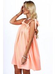 Amando Dámske voľné letné šaty 0295, neónovo lososové