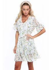 Amando Dámske kvetinové šaty 01060, krémové
