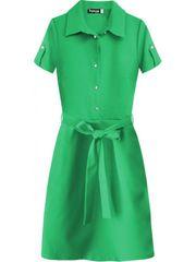Amando Dámske šaty s golierom 437ART zelené