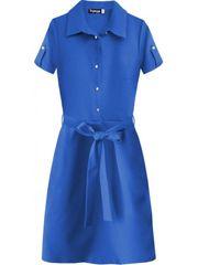 Amando Dámske šaty s golierom 437ART modré