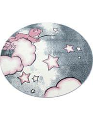 Ayyildiz Kusový koberec Kids 580 pink kruh