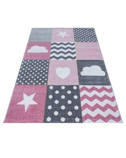 Ayyildiz Kusový koberec Kids 620 pink 80x150