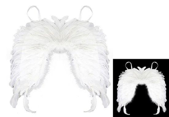 Krídla anjelská s perím - detská (rozpätie krídel 45cm, dĺžka 30cm a šírka 18 cm.
