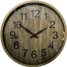 DUE ESSE Nástěnné hodiny efekt dřevo Ø 30 cm, typ 2