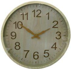 DUE ESSE Nástěnné hodiny efekt dřevo Ø 30 cm, typ 1