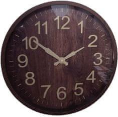 DUE ESSE Nástěnné hodiny efekt dřevo Ø 30 cm, typ 3