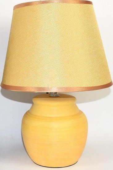 DUE ESSE Žlutá stolní lampa 30 cm, keramika