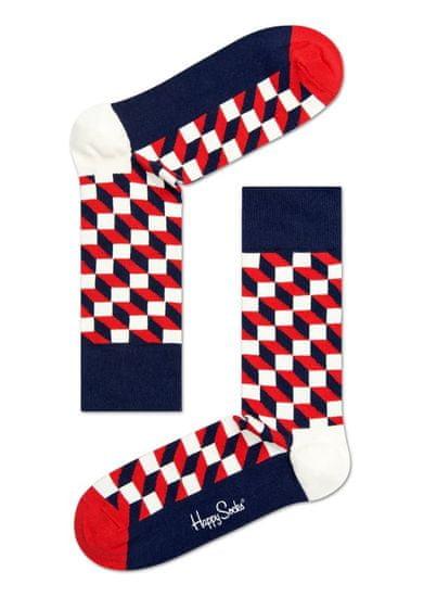 Happy Socks unisex ponožky Filled Optic Sock FO01-068 36 - 40 vícebarevná