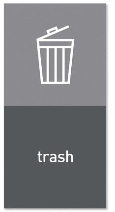 """Simplehuman Magnetický štítek na odpadkový koš - směsný odpad """"trash"""""""