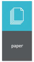 """Simplehuman Magnetický štítok na odpadkový kôš - papier """"paper"""""""