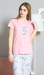 Vienetta Dámské pyžamo kapri Jednorožec barva světle růžová