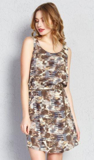 Vienetta Dámske šaty Jenny farba hnedá, velikost L