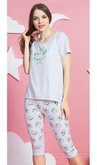 Vienetta Dámské pyžamo kapri Avokádo barva světle šedá