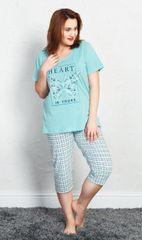 Vienetta Dámské pyžamo kapri Heart barva mentolová