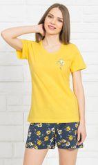 Vienetta Dámské pyžamo šortky Fiona barva žlutá