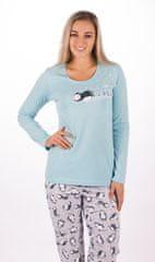 Vienetta Dámské pyžamo dlouhé Tučňák na sněhu barva mentolová