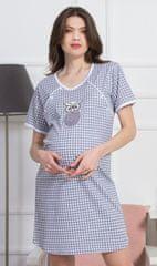 Vienetta Dámská noční košile mateřská Sovička barva šedá