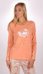 Stylomat Dámské pyžamo dlouhé Králík barva meruňková
