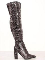 Evona Kozačky nad kolena snake print
