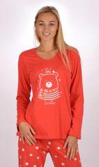 Stylomat Dámské pyžamo dlouhé Méďa Smiler barva červená
