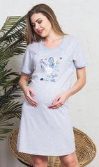 Vienetta Dámská noční košile mateřská Sweet barva šedomodrá