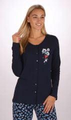Stylomat Dámské pyžamo dlouhé Sandra barva tmavě modrá