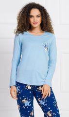Stylomat Dámské pyžamo dlouhé Méďa s hvězdou barva světle modrá