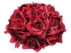 Paris Dekorace Svatební dekorace z růží s perličkami
