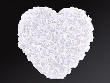 Paris Dekorace Srdce plné bílé