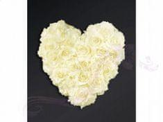Paris Dekorace Ozdoba na auto srdce prázdné, 40cm, ivory