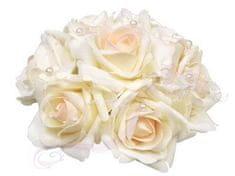 Paris Dekorace Malá svatební dekorace z růží s perličkami