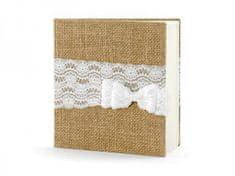 Paris Dekorace Svatební kniha - fotoalbum juta 20,5*20,5cm