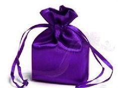 Paris Dekorace Saténový sáček tmavě fialový