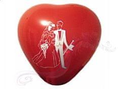 """Paris Dekorace Balónek červené srdce """"Novomanželé"""""""