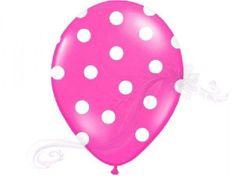 Paris Dekorace Balonky puntík Pastel tm. růžová /bílá