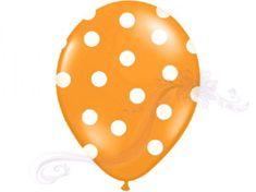 Paris Dekorace Balonky puntík Pastel oranžové