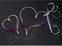 Paris Dekorace Ratanové srdce-bordó kytičky