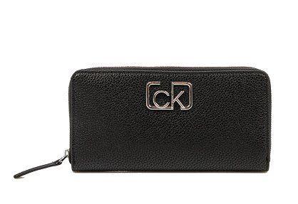 Calvin Klein Dámska peňaženka Ck Cast Lrg Ziparound Black